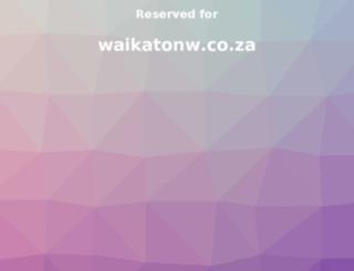 waikatonw.co.za screenshot