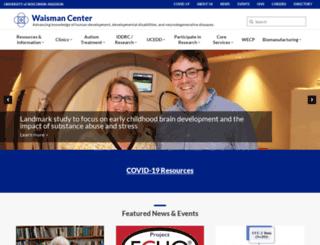 waisman.wisc.edu screenshot