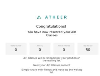 waitinglist.atheerair.com screenshot