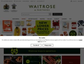 waitrose.co.uk screenshot