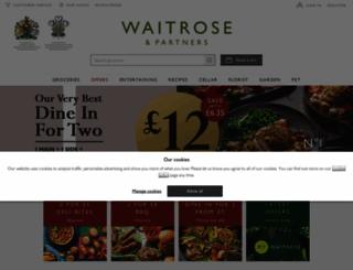waitrose.com screenshot