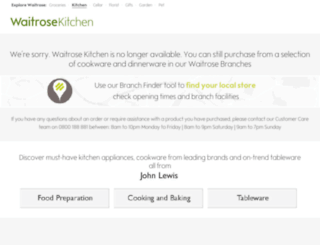 waitrosekitchen.com screenshot