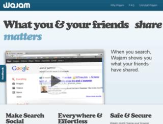 wajam.com screenshot