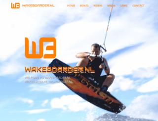 wakeboarder.nl screenshot