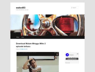 waked03.wordpress.com screenshot