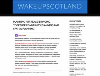 wakeupscotland.wordpress.com screenshot