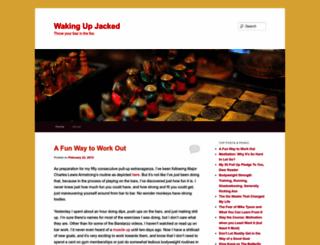 wakingupjacked.wordpress.com screenshot