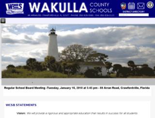 wakulla.schooldesk.net screenshot