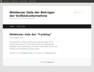 waldemargala.blog.com screenshot