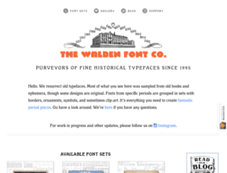 waldenfont.com screenshot