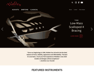 waldenguitars.com screenshot