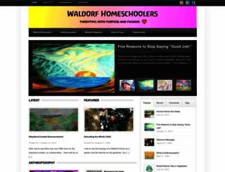waldorfhomeschoolers.com screenshot