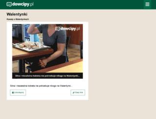 walentynki.dowcipy.pl screenshot