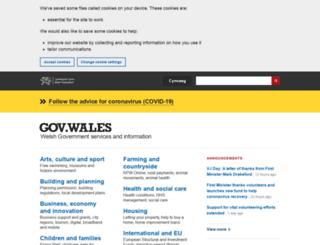 wales.gov.uk screenshot