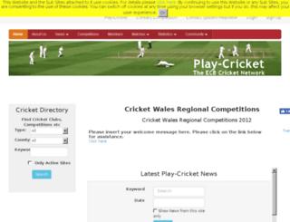 walesregionalcomps.play-cricket.com screenshot