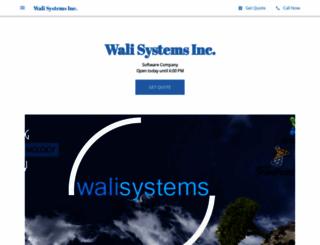 walisystemsinc.com screenshot