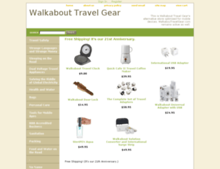 walkabouttravelgear.net screenshot