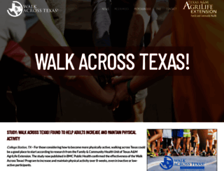walkacrosstexas.tamu.edu screenshot