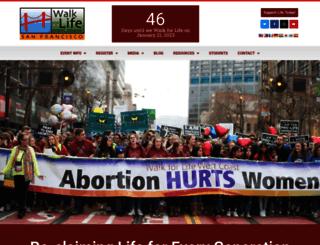 walkforlifewc.com screenshot