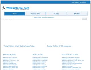 walkinsindia.com screenshot