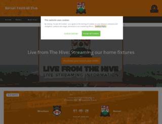 wall.barnetfc.com screenshot