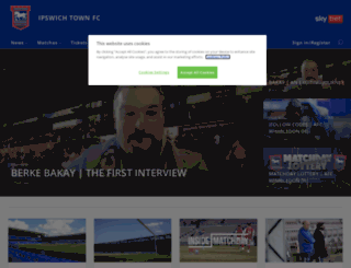 wall.itfc.co.uk screenshot