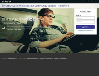 wallacestate.mylabsplus.com screenshot