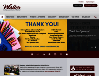 wallerisd.net screenshot