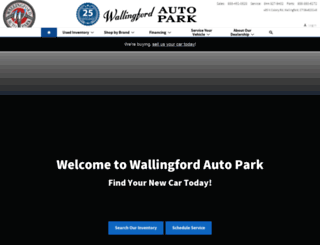 wallingfordautopark.com screenshot