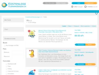 wallis.kostenlosekleinanzeigen.ch screenshot