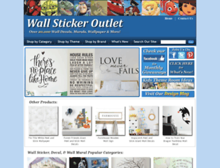 wallstickeroutlet.com screenshot