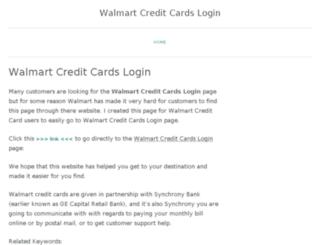 walmartcreditcardslogin.wordpress.com screenshot
