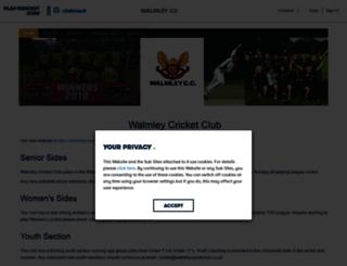 walmley.play-cricket.com screenshot