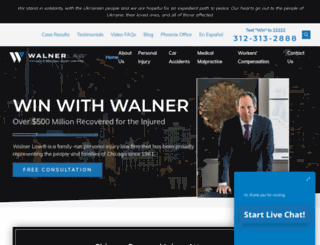 walnerlaw.com screenshot