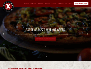 walnutcreek.extremepizza.com screenshot