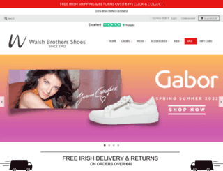 walshbrothersshoes.ie screenshot