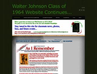 walterjohnson1964reunion.weebly.com screenshot