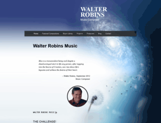 walterrobinsmusic.com screenshot