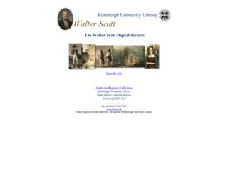 walterscott.lib.ed.ac.uk screenshot