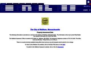 waltham.patriotproperties.com screenshot