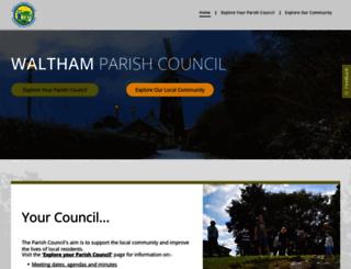 walthamparishcouncil.org.uk screenshot