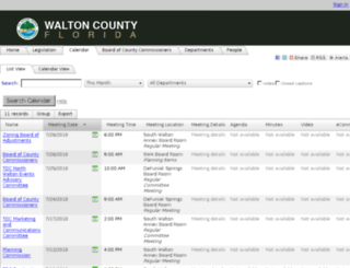 walton.legistar.com screenshot