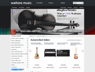waltons.ie screenshot