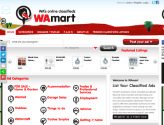 wamart.com.au screenshot