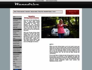 wanadrive.co.uk screenshot