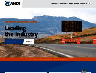 wanco.com screenshot