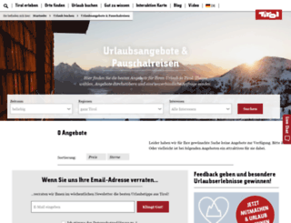 wanderangebote.tirol.at screenshot