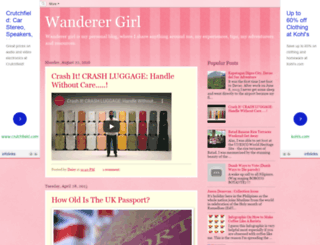 wanderer-girl.blogspot.com screenshot