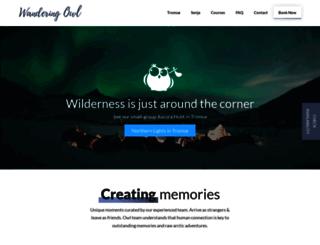 wanderingowl.com screenshot