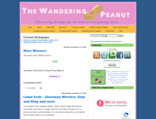 wanderingpeanut.blogspot.com screenshot